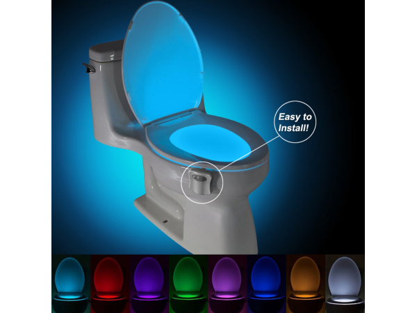 8 Colors LED Toilet Night Light, Motion Activated