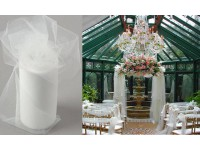 White Tulle Roll Wedding Decor 100 Yards