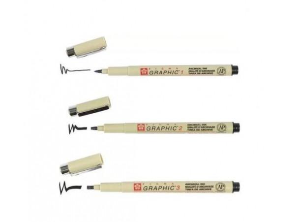 3pcs Pigma Graphic Pens