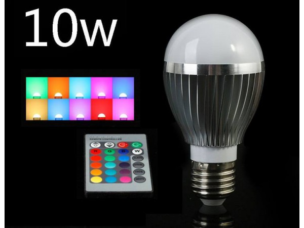 Colored LED Light Bulb 10W with Remote
