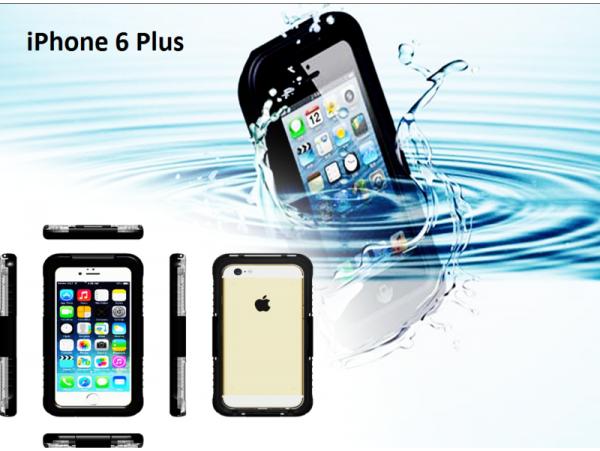 Iphone 6 plus Waterproof shockproof case Black